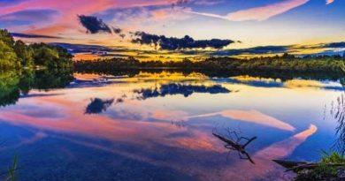Sonnenuntergang-Panorama